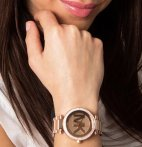 $130 MICHAEL KORS Parker Dial Rose Gold-tone Ladies Watch