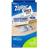 $4.75 Ziploc Space Bag, Variety Pack, 6 Count (Flat Bag: 2 Medium, 2 Large,1 XL; 1 Space Cube)