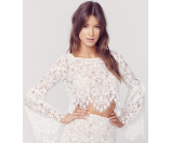 For Love and Lemons Vika Crop Top Ivory