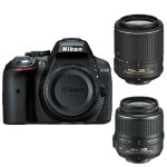Nikon D5300 DX-Format 24.2MP DSLR Camera with 18-55mm & 55-200mm VR II Lenses  Factory Refurbished