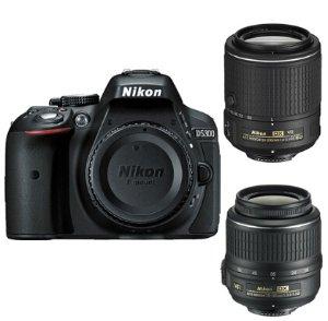 $549Nikon D5300 DX-Format 24.2MP DSLR Camera with 18-55mm & 55-200mm VR II Lenses  Factory Refurbished