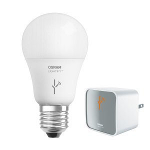 Shop SYLVANIA Lightify 60W Equivalent Dimmable Soft White A19 LED Light Fixture Light Bulb at Lowes.com