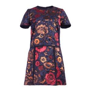 Burberry Floral Jacquard Shirt Dress by Burberry   Moda Operandi