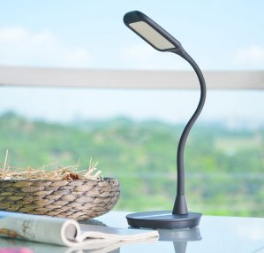 ANNT 10W 3 Modes 5-Level Dimmer Gooseneck Dimmable Eye-Care LED Desk Lamp with USB Memory Function