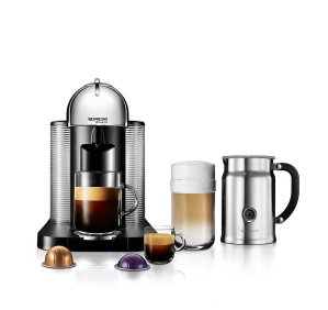 $128.79 Nespresso Espresso Machine r with Aeroccino Plus Milk Frother,