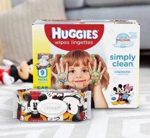 Huggies Simply Clean Baby Wipes, Soft Pack, 72 Count (Pack of 8)