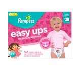 Amazon.com: Pampers Girls Easy Ups Training Underwear, 3T-4T (Size 5), 148 Count: Health & Personal Care