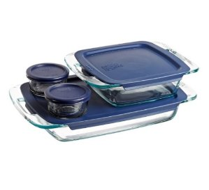 #1 Best seller! $13.59 Pyrex Easy Grab 8-Piece Glass Bakeware and Food Storage Set
