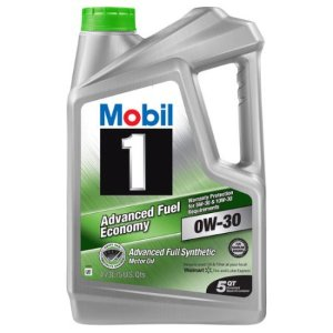 $8.98 Mobil 1 0W-30 Advanced Fuel Economy Full Synthetic Motor Oil, 5 qt.
