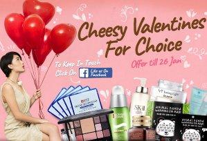 Cheesy Valentines@ Sasa.com