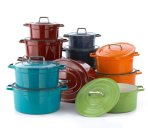 $49 Martha Stewart Collection Collector's Enameled Cast Iron 6 Qt. Round Casserol @ macys.com