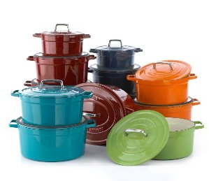 Extra 25% Off+Extra 15% Off Martha Stewart Collection Collector's Enameled Cast Iron 6 Qt. Round Casserol @ macys.com