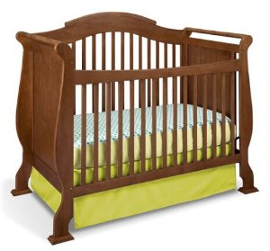$149.88 Stork Craft Valentia Convertible Crib, Dove Brown