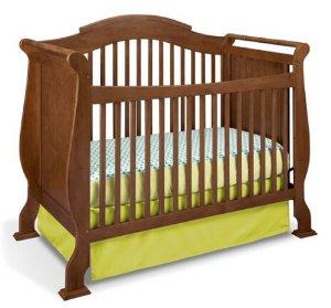 $149.88 Stork Craft Valentia Convertible Crib, Dove Brown