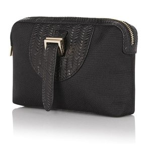 Wash bag black part woven Double 12 sale