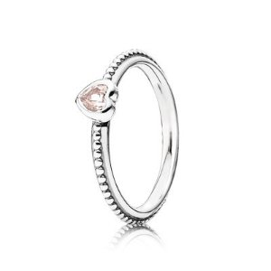 One Love, Rose-Pink Synthetic Sapphire - 190896SLP - Rings | PANDORA