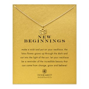New Beginnings Lotus Necklace, Gold Dipped | Dogeared