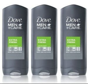 $11.00 Dove Men+Care Body and Face Wash, Extra Fresh 18 oz , Pack of 3