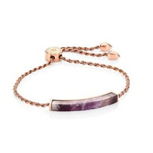 Monica Vinader Linear Amethyst Chain Friendship Bracelet