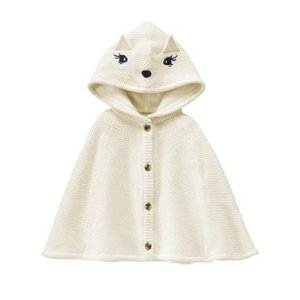 Toddler Girls Ivory Fox Cape by Gymboree