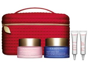 $95 + FREE GIFT Clarins Multi-Active Luxury CollectionLine-fighting, radiance-boosting
