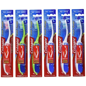 Colgate Value Travel Toothbrush, Soft, (Colors might vary) (Pack of 6)