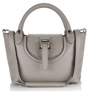halo mini bag in taupe
