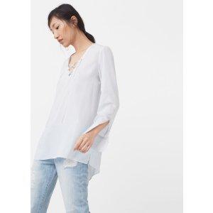 Braided cord blouse - Woman