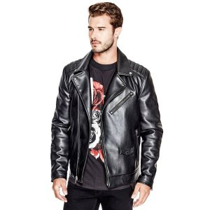 Kenny Faux-Leather Jacket | GUESS.com