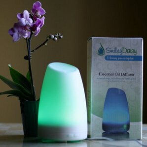 Smiley Daisy Aromatherapy Essential Oil Diffuser, White, 120ml