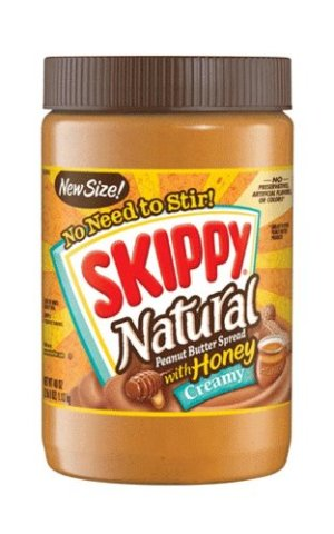 Skippy Peanut Butter, Creamy and Natural with Honey, 40Ounce