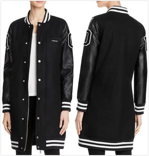$168.3 Members Only Long Varsity Jacket @ Bloomingdales