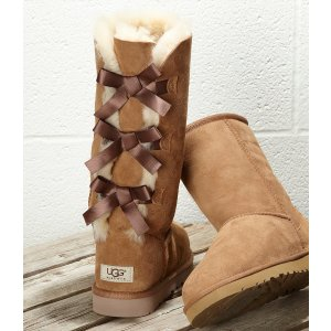 UGG® Bailey Bow Tall Sheepskin Boots | Dillards