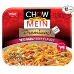 Nissin Chow Mein Premium Teriyaki Beef, 4.0 Ounce (Pack of 12)