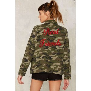 Real Friends Camouflage Jacket