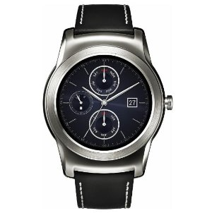 LG - Watch Urbane Smartwatch 46mm Stainless Steel - Silver Leather
