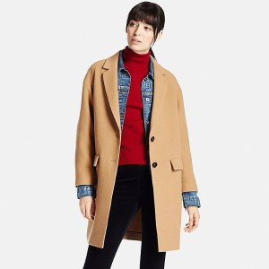 WOMEN SOFT WOOL BLEND TAILORED COAT | UNIQLO US