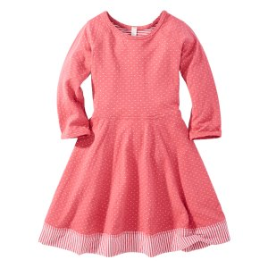 Hanna Andersson Macaron Dot & Stripe One Equals Two Reversible Dress | zulily