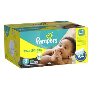 $24.47 Prime Member Only! Pampers Swaddlers Diapers Size 3 Economy Pack Plus, 162 Count