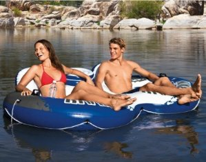史低价!Intex Recreation 双人充气浮床
