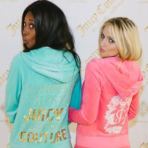 50% Off Pink Velour Track Jacket @ Juicy Couture