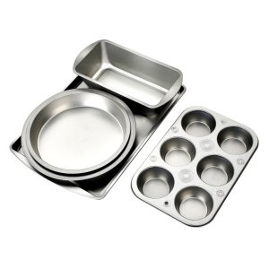 Deik Kitchen Bake 5-Piece Bakeware Set, Carbon Steel