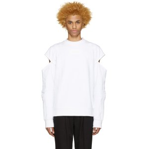 Hood by Air: White Logo Fracture Pullover