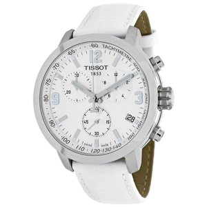 Tissot Women's PRC 200 White Leather and Dial | World of Watches