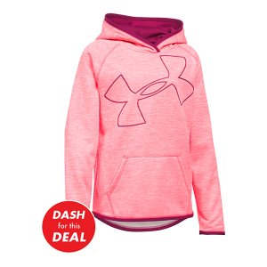 Pink Chroma Armour® Fleece Novelty Jumbo Logo Hoodie - Girls