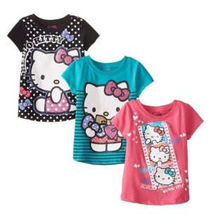 $7.24 Hello Kitty Girls' Value Pack Tee Shirts