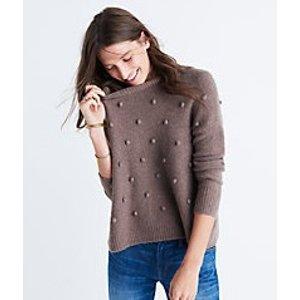 bobble pullover sweater