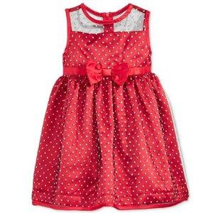 Penelope Mack Dot-Print Flocked Mesh Dress, Baby Girls (0-24 months)