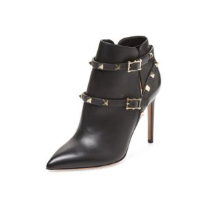 Valentino Rockstud Leather Ankle Bootie