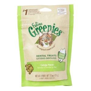 Greenies Dental Treats Catnip Dry Cat Treat, 2.5 Oz | Jet.com